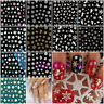 Hot XMAS Gift Christmas Snowflakes Design 3D Nail Art Stickers Decals Nail Decor