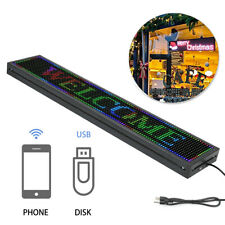 40 X 8 Full Color Indoor Led Sign Programmable Scrolling Message Board P10
