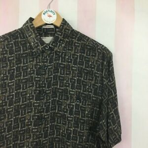 Vintage abstract shirt with short sleeves Size Medium
