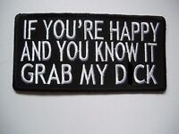 Biker, If You're Happy And you.... - Patch Sew/Iron - Rider biker Bobber