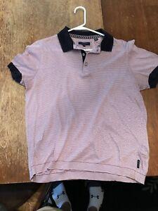 Ted Baker London Stripe Polo Shirt Men's Size 3 Purple