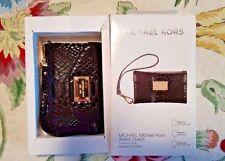 NWT Michael Kors Black Python iPhone 3GS/4/4S Wristlet
