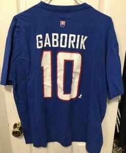 Marian Gaborik Nike Blue Team Czech Republic Shirt Size XL