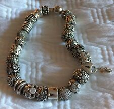 Authentic Pandora XL Bracelet With 25 Authentic Charms Sterling/14kt Bracelet