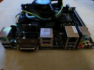 MSI B250i Pro LGA 1151 ITX Motherboard, new open box, w/ Intel Pentium G4600