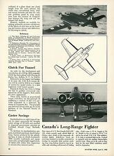 1950 Aviation Article A. V. Roe CF-100 Long Range Fighter AVRO Canada Canadian
