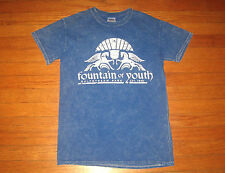 FOUNTAIN of YOUTH, Gulfstream Park T-Shirt, Men's Small, Blue HORSE RACING NEW