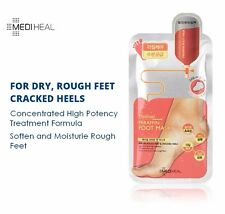 MEDIHEAL PARAFFIN FOOT MASK Soften Moisturise Dry Rough Feet Crack Heal 5 Pairs