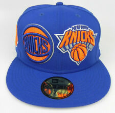 NEW YORK KNICKS NBA NEW ERA 59FIFTY MULTI LOGOS FITTED SIZE: 7 1/2 HAT CAP NEW!