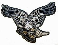 DELUXE JUMBO EMBROIDERIED EAGLE DREAMCATCHER FEATHERS 6 IN PATCH JP65  patches