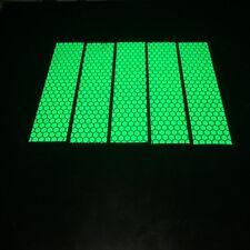 5×5cm×20cm Hi Vis Viz DIY Green Reflective Stickers Tape Motorcycle Helmet