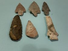 6 Authentic Coral and Chert Arrowheads Found In Citrus And Marion County Florida