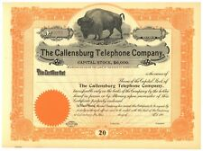 Telephone company ebay callensburg telephone company stock certificate pennsylvania publicscrutiny Image collections