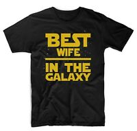 Best Wife in The Galaxy T-Shirt Star Wars Themed Cute T-Shirts Black