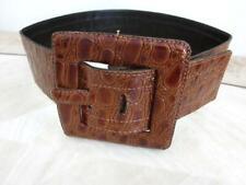 "YSL/YVES SAINT LAURENT Crocodile Embossed Waist Belt Size: S - 75cm - 29.5"" Belt"