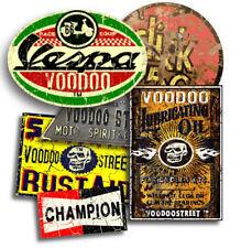 RAT LOOK VESPA  STICKER PACK 2 BY VOODOO STREET™, self adhesive, superior print.