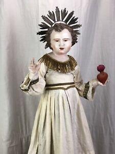 Bambino Di Praga Bambinello Gesù Cristo 70 Cm Ihs Jesus Bambinello