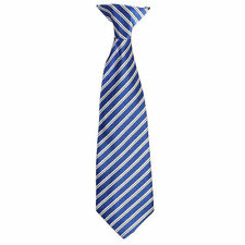 Satin Clip On Tie Stripe Boys Girls Toddler 2T-4T Kids 4-7 Boys 8-16 Neck Tie