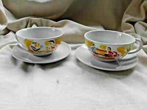 RETRO NESCAFE COFFEE CUP & SAUCER SET ~ PAIR OF ~ VERY CLEAN CONDITION (2)