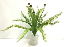 "River Fern Frond Bush~Two Tone Green~19"" T~PVC/Artificial"