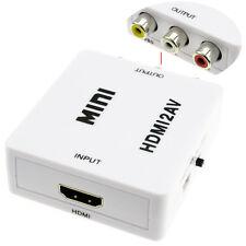 Convertisseur HDMI femelle 1080P vers Cinch RCA Composite femelle avec Câble USB