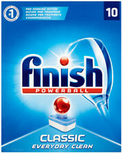 10x Finish Powerball Classic Originale Lavastoviglie Pulizia Profonda 181 G Tablet GRATIS P&P
