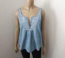 Hollister Womens Size Small V-Neck Chambray Tank Top
