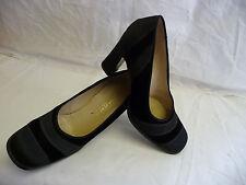 BOTTEGA VENETA Womens Pumps Size 8.5B Black Velvet Satin Stripes Italy