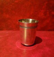 Timbale en métal argenté Christofle - Coll Gallia