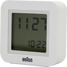 Braun Despertador Cuarzo 66064 Blanco de Viaje, Función Snooze, Incl. Batería