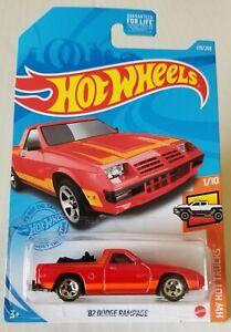 2021 Hot Wheels Kroger's Exclusive - J Case ´82 Dodge Rampage Red Hot Trucks