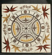English Victorian Gothic Tile. C 1884.
