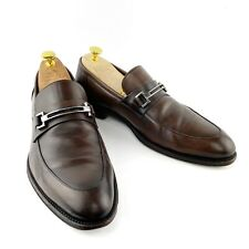 Ermenegildo Zegna Men Leather Horse Bit Loafer Shoes Size 9D Made in italy $650