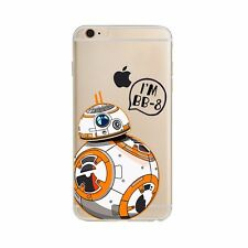 Star Wars Force Awakens BB-8 BB8 Apple Iphone 6 6s Clear Soft Phone Case