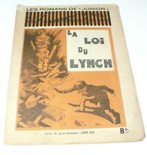 """Recueil Romans de Junior """"La loi du Lunch"""" L.Marcellin - Années 50 SPE -CALVO"""