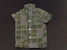 Vintage Ken Doll Button Down Shirt with Pocket Green Geometric Tagged CLEAN