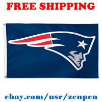 Deluxe New England Patriots Team Logo Flag Banner 3x5 ft NFL Football 2019 NEW