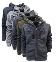 Felpa GEOGRAPHICAL NORWAY GIMDO maglia maniche lunghe Uomo Zip Cappuccio WR637H/