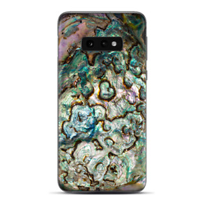 Skins Decal wrap for Samsung Galaxy S10e - Abalone Shell Gold underwater