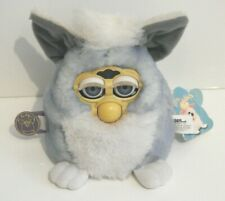 Vintage Tiger Electronics Furby Babies Baby Interactive Toy Blue & White Working