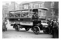 pt1608 - Early South Shields Bus , Durham - photograph 6x4