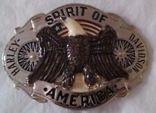 New Vtg. Harley Davidson Belt Buckle  Raintree - Spirit Of America