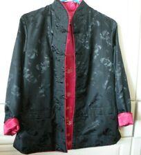 Black Pink Tang Reversible Jacket Martial Arts Tai Chi Costume Halloween