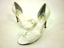BRIDAL BY BUTTER, CODY-B OPEN-TOE PUMP, WOMENS, WHITE, US Size 5.5 M, NEW