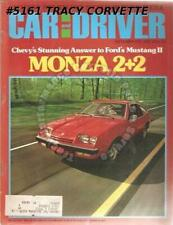 September 1974 Car and Driver Monza 2+2 Shelby GT350 Fiat 124 Sport Coupe