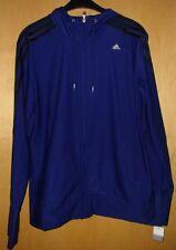 Adidas Jacke Trainingsjacke Hoodie Kapuze CT Core HD TKT, blau schwarz XL 46 48