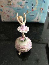 Beautiful Music Box Rotating Ballerina Plays Swan Lake (I think) 5� in box new