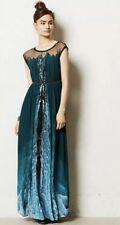 NEW Anthropologie Geisha Icefall Maxi Dress Size 2 Petite