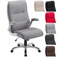 Fauteuil bureau VILLACH XL tissu chaise rembourré épais inclinable réglable neuf