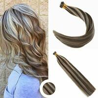 Ugeat 50g Nano Ring Tip Hair Extensions Nano Beads Piano Color Dark Brown Blonde